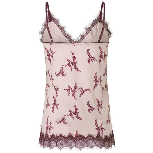 Rosemunde Billie Strap Top With Vintage Autumn Leaf Print 4217-9357 | Clearance Final Sale