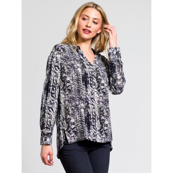 Go by Go Silk Go Everyday Shirt Snake Print | Sale Clearance Final Sale