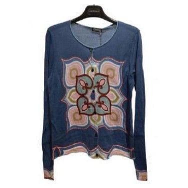 Maliparmi Cupola Print Cardigan JN3529|Clearance No Returns