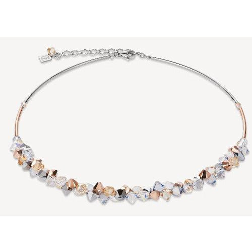 CŒUR de LION  Swarovski® Crystals Stainless Steel Rose Gold, & Silver Necklace 4938101631