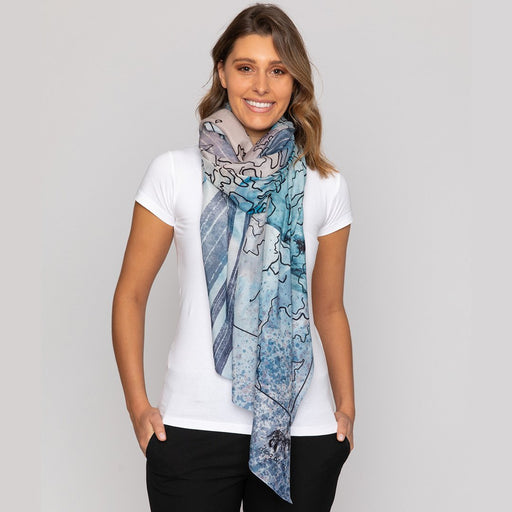 "boy & dog Salt 50""x 50"" Silk & Cotton Square Scarf 