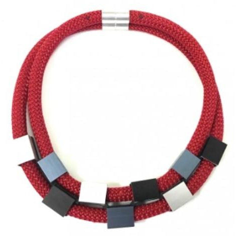 Christina Brampti Red Double Strand Necklace CB-1889L