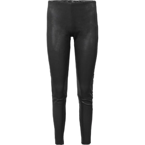 Summum Woman Stretch Leather Leggings 4s2024-11278-000990 Black