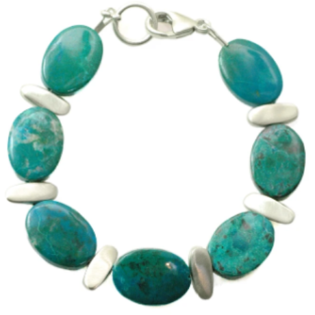 Philippa Roberts Silver Nugget Bracelet W.Turquoise 145-25sb