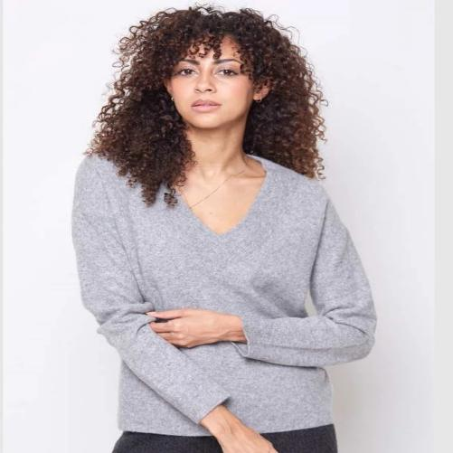 SWTR Felted Wool Blend Deep V Pull Over 110-MY7 | Clearance Sale | Final Sale