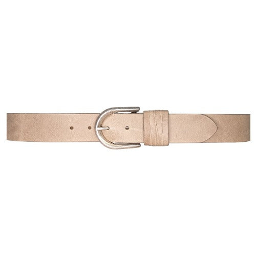 Streets Ahead Olivia Silver Buckle Leather Belt 27076 | Taupe