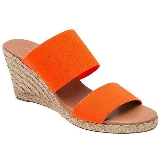 André Assous Amalia Double Band Elastic Espadrille Wedges Neon Orange | Shop Shoes, Sandals & Espadrilles