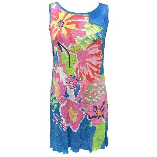 David Cline Crushed Tank Crew Dress 6795