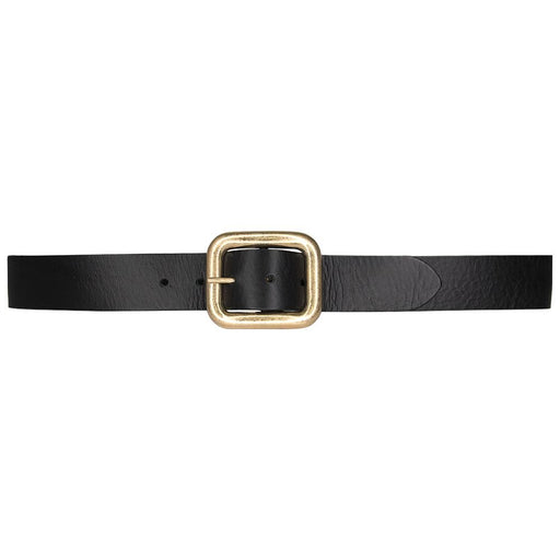 Streets Ahead Natalia Leather Belt with Gold Buckle 49036 Black