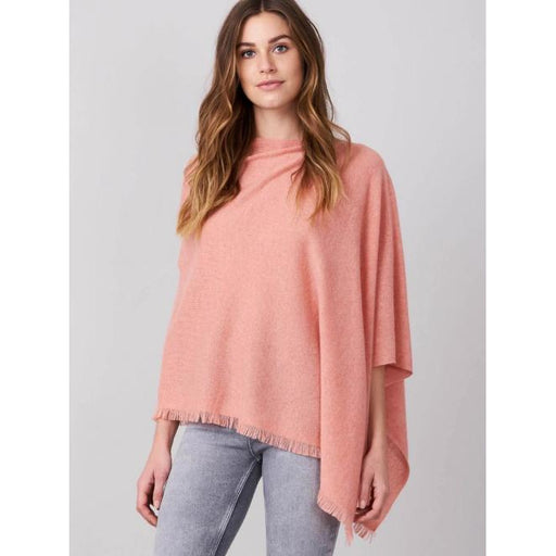 REPEAT Cashmere Cashmere Asymmetrical Poncho 700001 | Blush