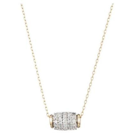 Adina Reyter Jewelry Pavé Diamond Barrel Necklace | Shop Diamonds Now
