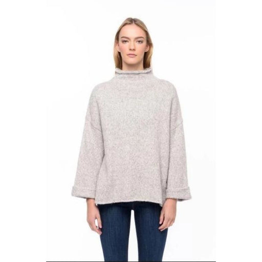 Line The Label Agnes Funnel Neck Pull Over | Granite