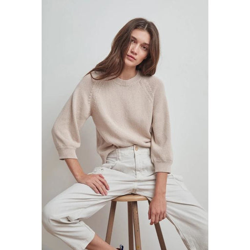 Velvet Yara Long Sleeve Crew Neck Top Putty | Shop Velvet by Graham & Spencer