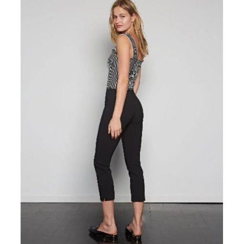 Avenue Montaigne Brigitte Pull On Cropped Pants | Polyviscose F954 Signature Fabrication Black