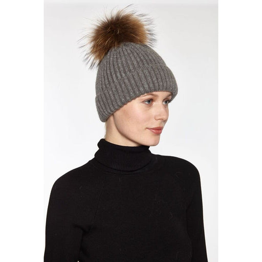 Linda Richards  Wool Ribbed Pom -Pom Hat 11