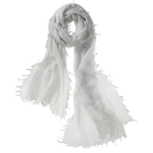 Captiva Cashmere Alta Featherweight Cashmere Scarf Silver | Buy Captiva Cashmere Featherweight Scarves Today