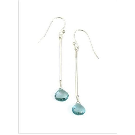 Philippa Roberts Blue Topaz and Silver Earrings 143-16se