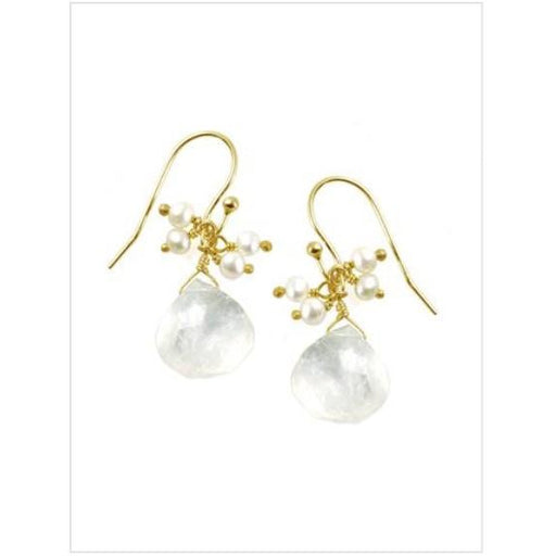 Philippa Roberts Moonstone & Pearl Earrings 135-22ve
