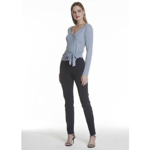 Avenue Montaigne Billy Pull On Straight Leg Pant Navy | F954 Polyviscose Fabric Navy