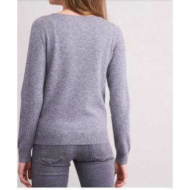 REPEAT Cashmere Boat Neck Pullover Sweater 100017 Back  | Shop Fine Cashmere Now