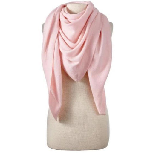 Captiva Cashmere | Solid Cashmere Triangle Wrap Blush