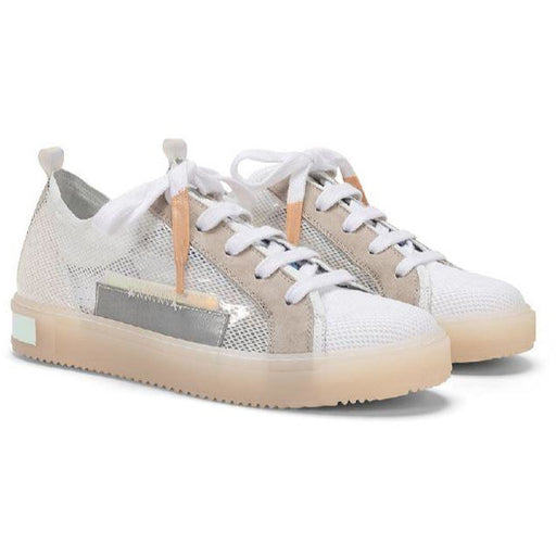 Donna Carolina Elena Mixed Lace Up Sneakers  43.063.006 | Bianco Multi