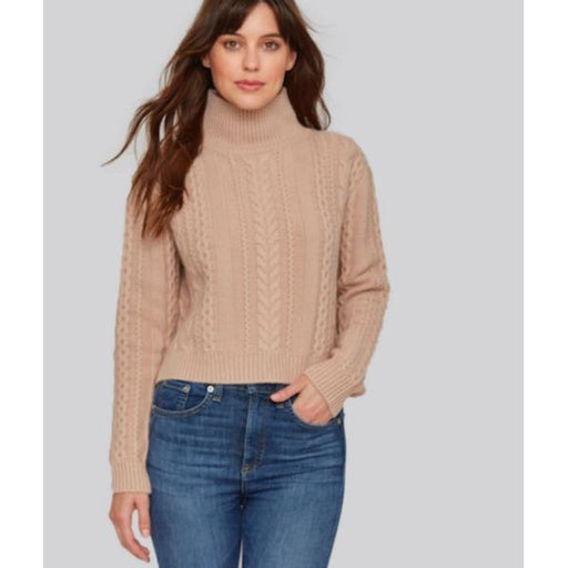 W. Cashmere Cable Turtleneck Sweater 192078