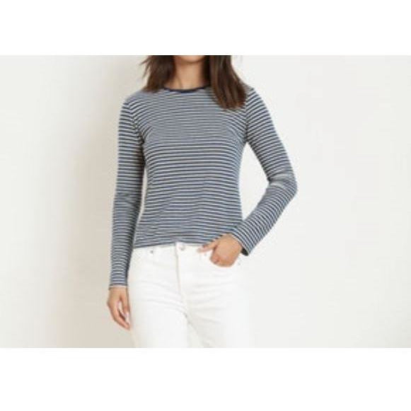 Velvet by Graham & Spencer Charlee Long Sleeve Blue Stripe Top  | Shop Knit Tops, Tees, Dresses & Sweaters from Velvet Graham & Spencer
