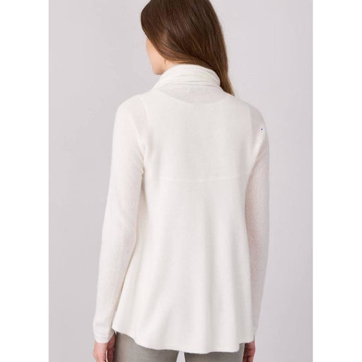 Repeat Cashmere Open Cashmere Cardigan 100022 | Cream Circle Cardigan