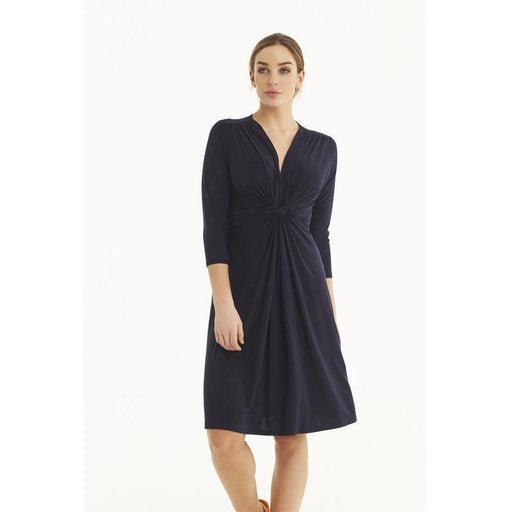 Ilse Jacobsen Hornbæk Emma V-Neck Dress True Navy 616 | Shop Ilse Jacobsen Hornbæk Today