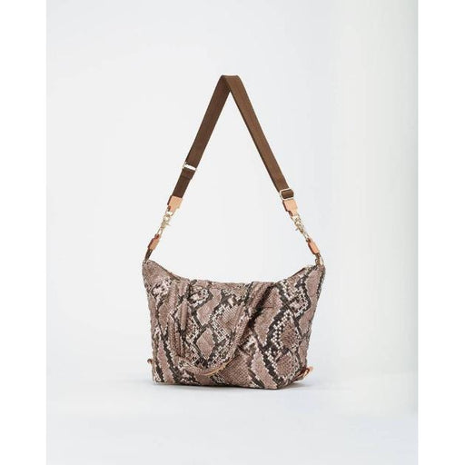 MZ Wallace Quilted Brown Snake Medium Sutton Bag | Shop MZ Wallace