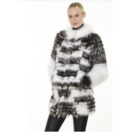 Linda Richards Silver Fox Sweater Coat FX07