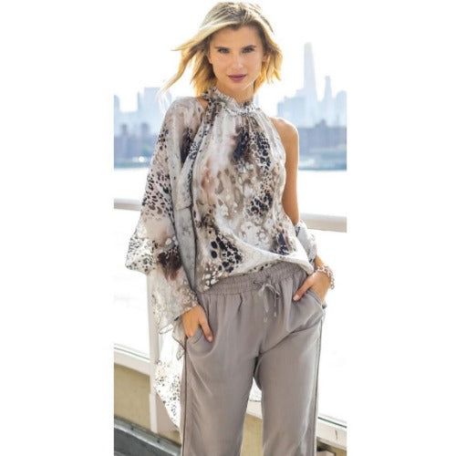go by Go Silk Go Cascade Silk Duster T1090 | Animal Kingdom Print