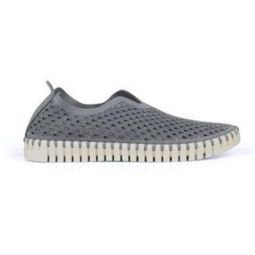 Ilse Jacobsen Tulip 139 Perforated Slip On Sneakers | Grey/White