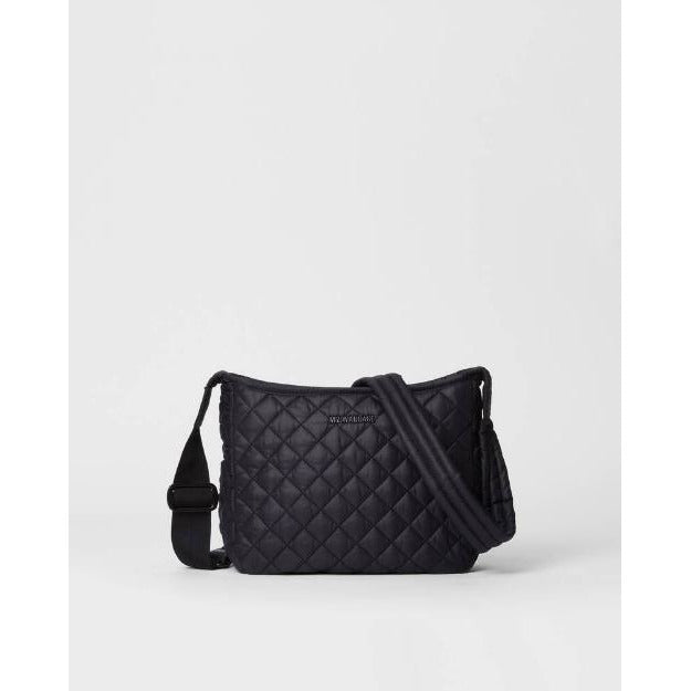 MZ Wallace Small Parker Quilted Nylon Crossbody | Black 1233X1590