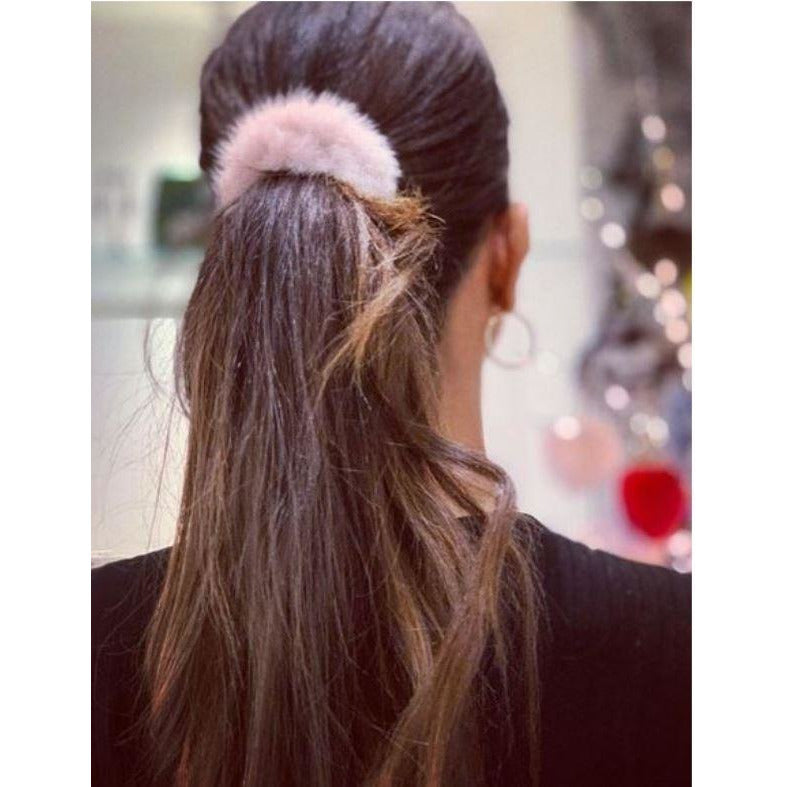 Linda Richards Mink Hair Scrunchie HT-04