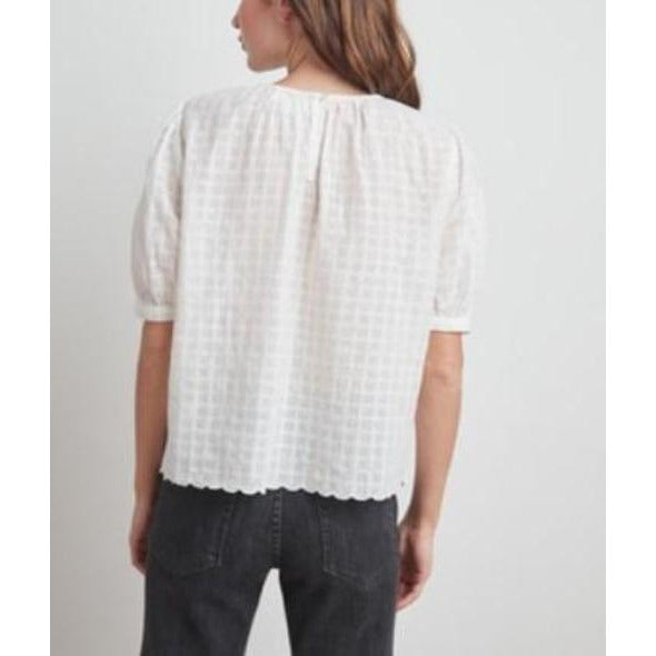 Velvet by Graham & Spencer Holland Eyelet Top | Cream