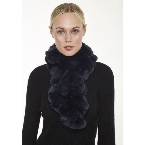Linda Richards Rex Ruffle Scarf RX39 | Black