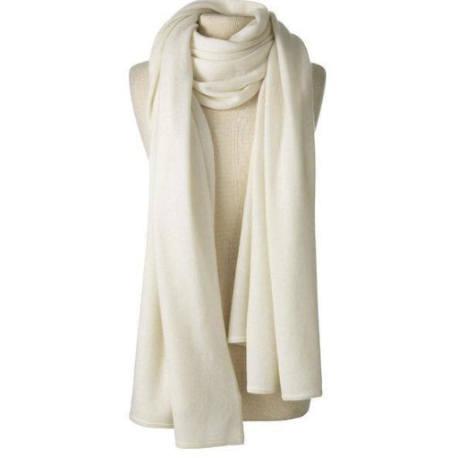 Captiva Cashmere Over-Sized Travel Wrap Ivory | Cashmere Wraps