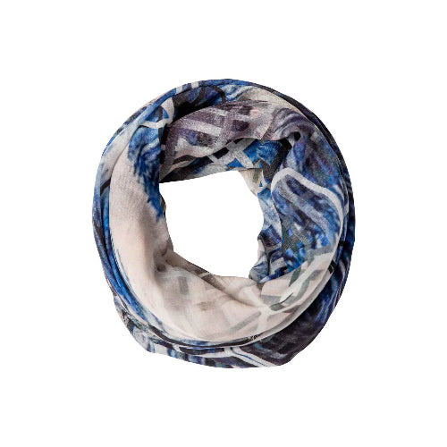 "dog & boy Divergence  50"" x 50"" Merino Wool Scarf 
