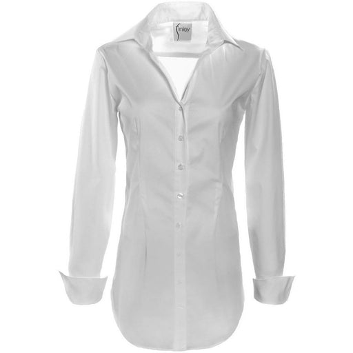 Finley Shirts Kaylynn Tunic Button Front Shirt | White