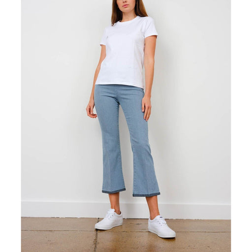 Avenue Montaigne Leo Cropped Flare Pull On F1462 |Striped Denim