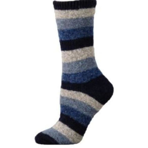 B. ELLA  Lexy Striped Wool Crew Sock 0512