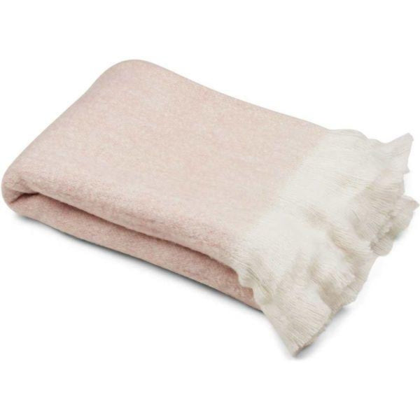 Natures Collection Wool Blend Throw NCL1361 Light Beige