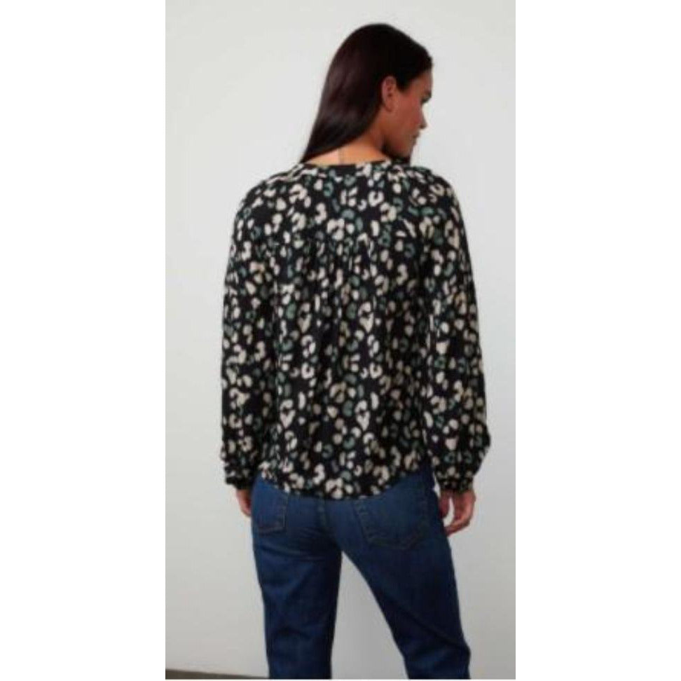 Velvet Lilian Long Sleeve Peasant Top