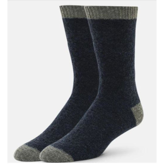 B. ELLA Alpino Contrast Toe and Ankle Crew Sock 5431 Navy Blue