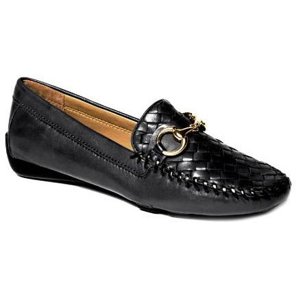 Roberts Zur Perlata T Glove Leather Loafer | Driving Moc | Black Leather