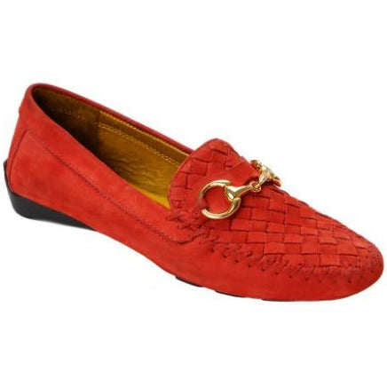 Robert Zur Perlata Suede Loafer | Racing Red Driving Moc
