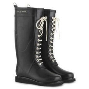 Ilse Jacobsen Rub 01 Tall Shaft Rubber Lace Up Rain Boot/Indigo