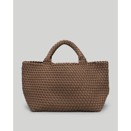 NAGHEDI St. Barth's Medium Solid Woven Tote | Mink